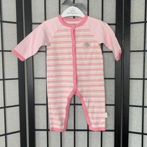 First Impressions Stripe Onesie Pink 6-9 months